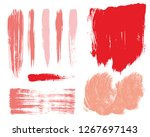 paint lines grunge collection.... | Shutterstock .eps vector #1267697143