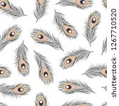 seamless pattern with hand... | Shutterstock .eps vector #1267710520