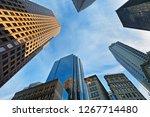 boston skyline showing... | Shutterstock . vector #1267714480