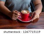asian women wake up in the... | Shutterstock . vector #1267715119