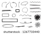 hand drawn infographic elements ... | Shutterstock .eps vector #1267733440