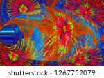 an abstract computer generated... | Shutterstock . vector #1267752079