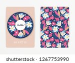 cover design with floral... | Shutterstock .eps vector #1267753990