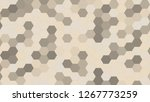 hexagonal grid pattern with... | Shutterstock . vector #1267773259
