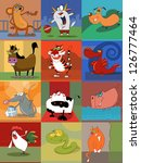 chinese horoscope animals | Shutterstock . vector #126777464