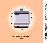 graphic tablet  flat design... | Shutterstock .eps vector #1267776049