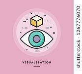 visualization  flat design thin ... | Shutterstock .eps vector #1267776070