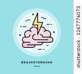 brainstorming  flat design thin ...   Shutterstock .eps vector #1267776073