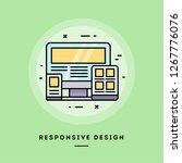 responsive design  flat design...