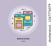 brochure  flat design thin line ... | Shutterstock .eps vector #1267776079