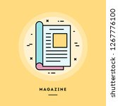 magazine  flat design thin line ... | Shutterstock .eps vector #1267776100