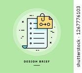 client brief  flat design thin... | Shutterstock .eps vector #1267776103
