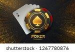 poker tournament. vector... | Shutterstock .eps vector #1267780876