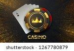 casino sing. vector... | Shutterstock .eps vector #1267780879