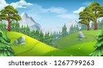 forest. nature landscape. 3d... | Shutterstock .eps vector #1267799263