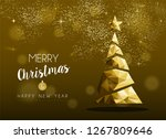 merry christmas and happy new... | Shutterstock .eps vector #1267809646
