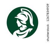 spartan in helmet silhouette... | Shutterstock .eps vector #1267834939