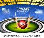 illustration of stadium of... | Shutterstock .eps vector #1267844356