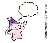 cartoon pink rabbit