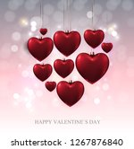 valentine's day love and... | Shutterstock .eps vector #1267876840