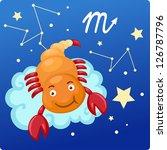 zodiac signs   scorpio vector... | Shutterstock .eps vector #126787796