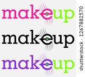 typographic logo makeup with... | Shutterstock .eps vector #1267882570