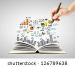 hand drawing business concept... | Shutterstock . vector #126789638