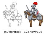 knights suit body protection... | Shutterstock .eps vector #1267899106