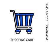 shopping cart concept line icon....