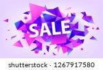 raster copy shiny sale banner ...   Shutterstock . vector #1267917580