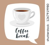 coffee poster template for... | Shutterstock .eps vector #1267919980