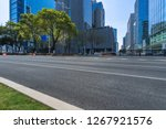 empty urban road with modern... | Shutterstock . vector #1267921576