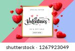 valentines day sale background... | Shutterstock .eps vector #1267923049