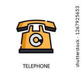 telephone concept line icon....