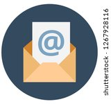 envelope isolated    color... | Shutterstock .eps vector #1267928116