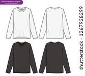 long sleeve t shirts fashion... | Shutterstock .eps vector #1267928299