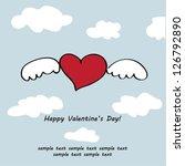 happy valentine's day   Shutterstock .eps vector #126792890