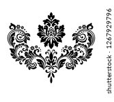 damask graphic ornament. floral ... | Shutterstock .eps vector #1267929796