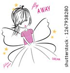 butterflies print for t shirt... | Shutterstock .eps vector #1267938280