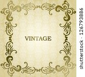 vintage card with a floral... | Shutterstock .eps vector #126793886