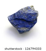 Raw Lapis Lazuli Stone Isolated ...