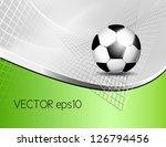 soccer ball background | Shutterstock .eps vector #126794456