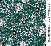 seamless pattern with little... | Shutterstock .eps vector #1267945726