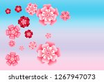 oriental apricot or japanese...   Shutterstock .eps vector #1267947073