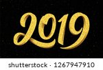 2019 gold glitters typography...   Shutterstock . vector #1267947910
