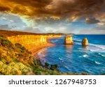 twelve apostles rocks at sunset ... | Shutterstock . vector #1267948753
