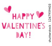 valentine s day vector greeting ... | Shutterstock .eps vector #1267959403