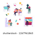 sewing clothes character people ... | Shutterstock .eps vector #1267961863