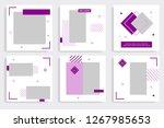 editable social media post... | Shutterstock .eps vector #1267985653