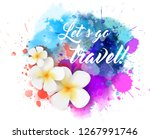 abstract travel background with ... | Shutterstock . vector #1267991746